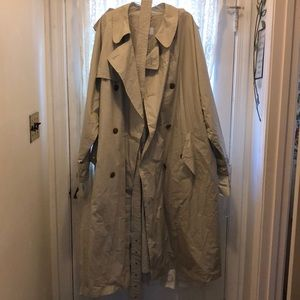 HUGO BOSS(NEW)-LT TAUPE 100%COTTON TRENCHCOAT